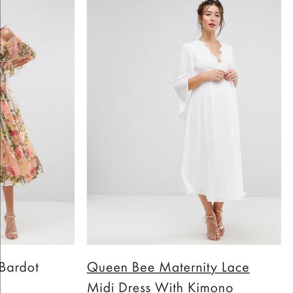 Maternity White Asos Dress